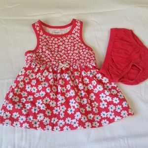 Girl summer cotton dress w/diaper cover